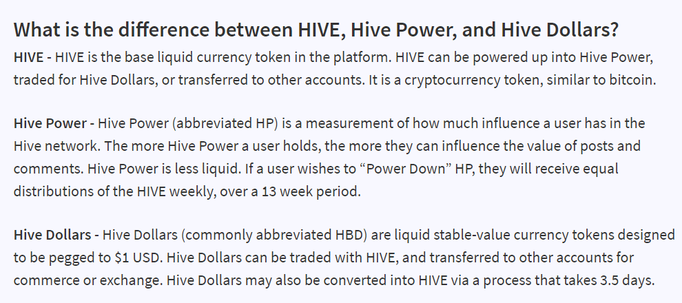 What Hive, hive power and hive dollar