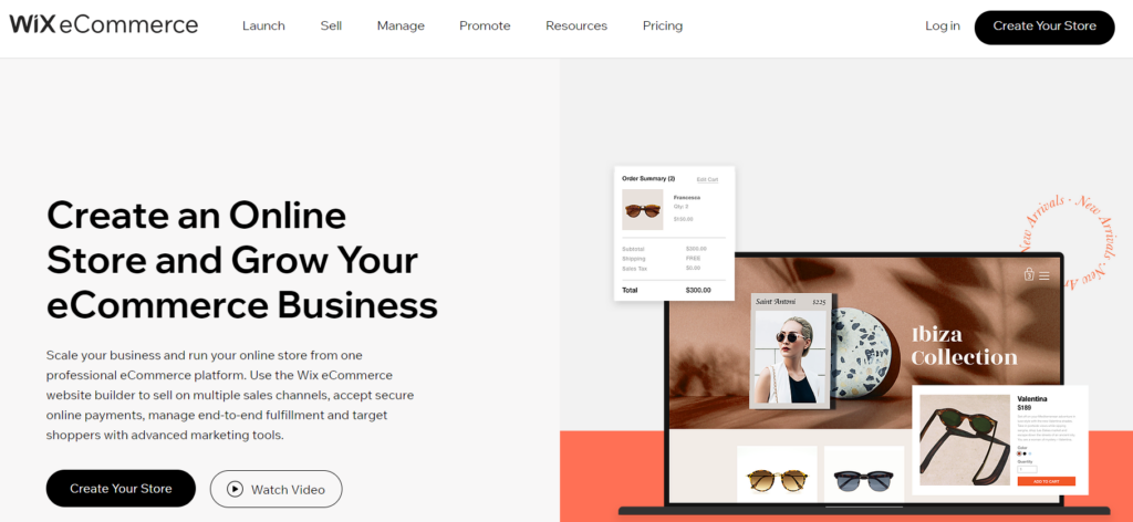 create an online store with WIX