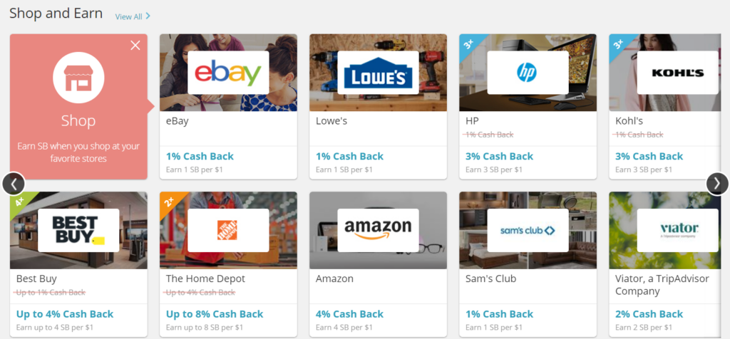 shop in swagbucks and make money