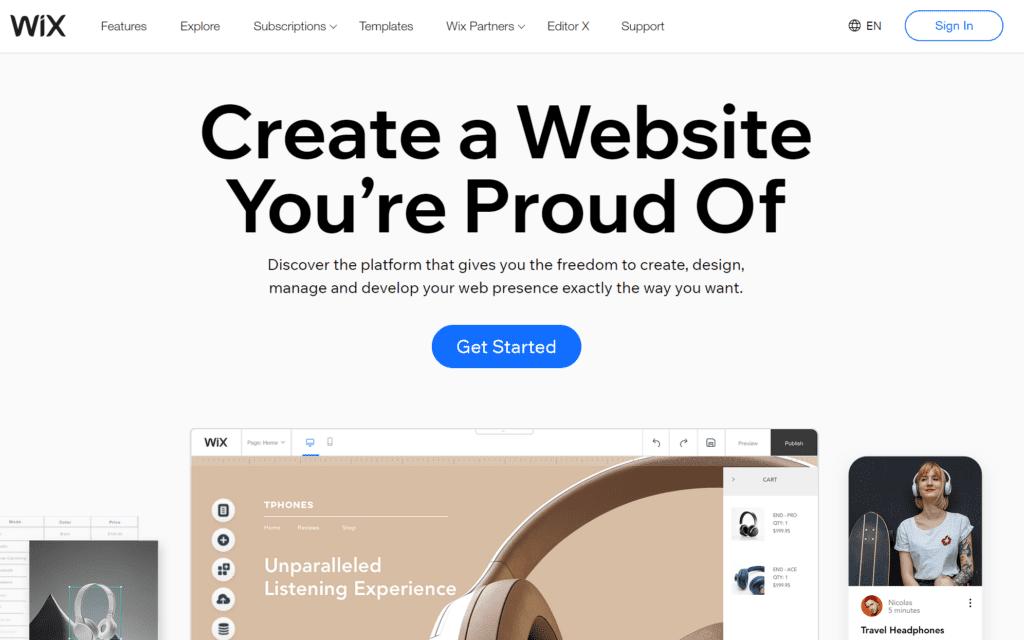 wix paid blogging platform