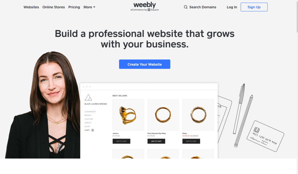weebly cms 5 Best Paid Blogging Platforms