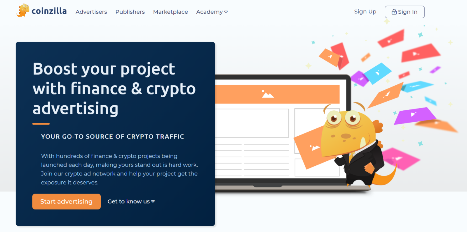 Coinzilla: Ad Network for Crypto Sites