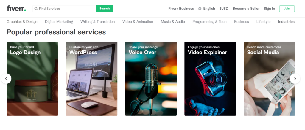 Fiverr: Best Platform for Freelancers