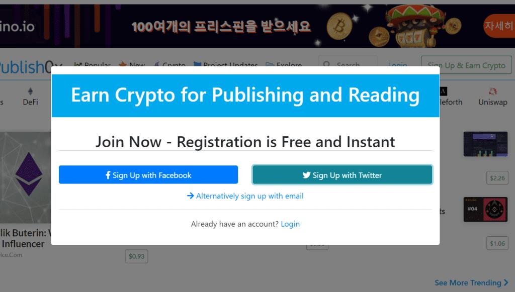 Publish0x: Earn ETH by blogging