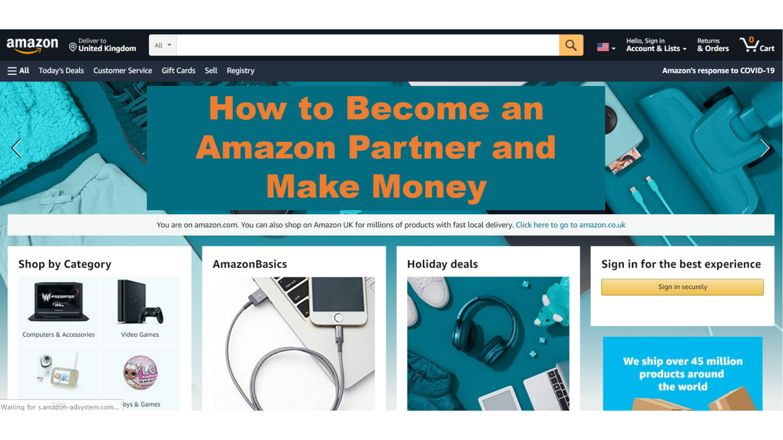 How to Become an Amazon Partner and Make Money