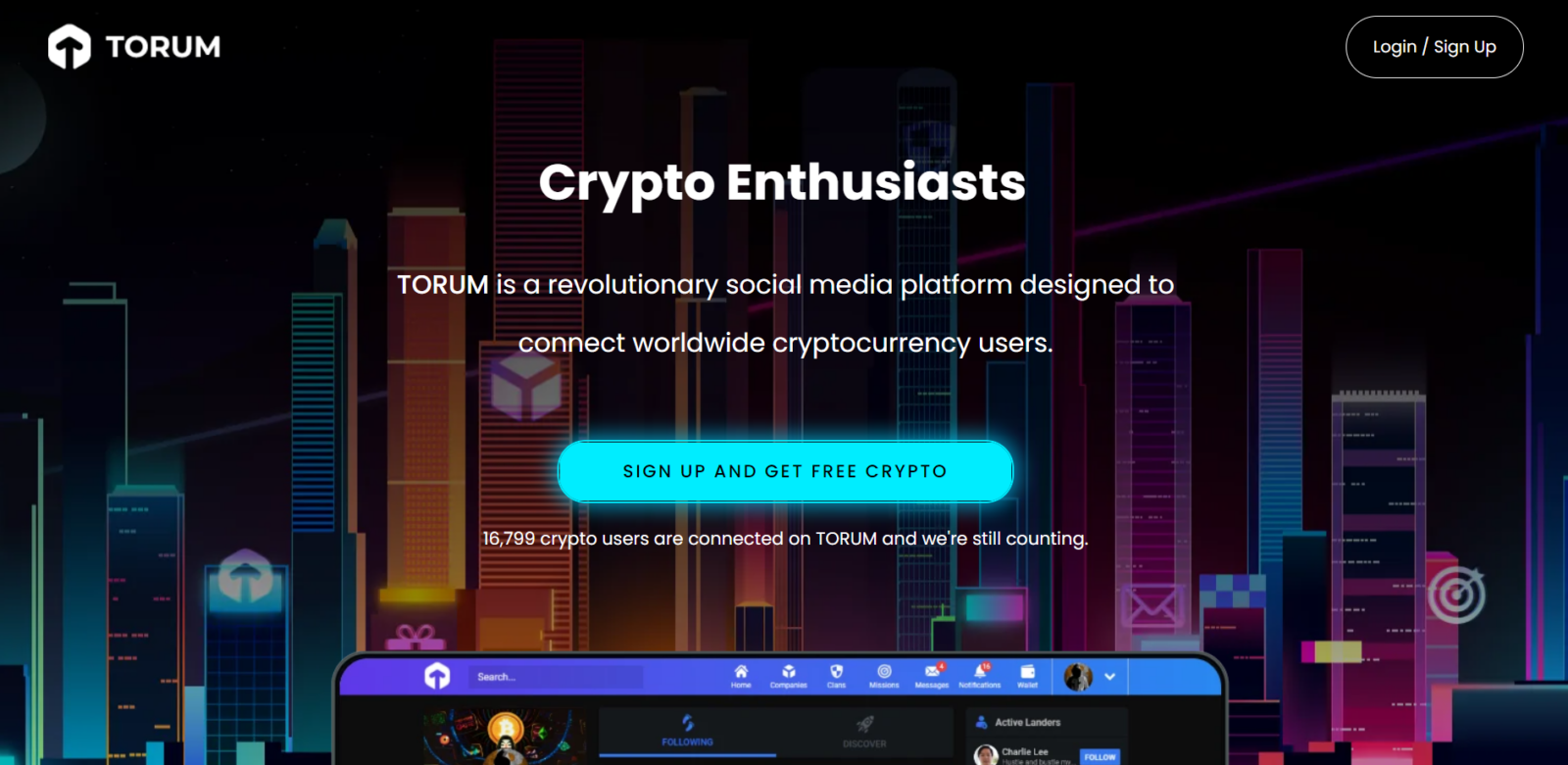 Torum: A Social Media That Pays Crypto